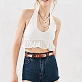 Cooperative Eyelet Halter Cropped Top ($39)
