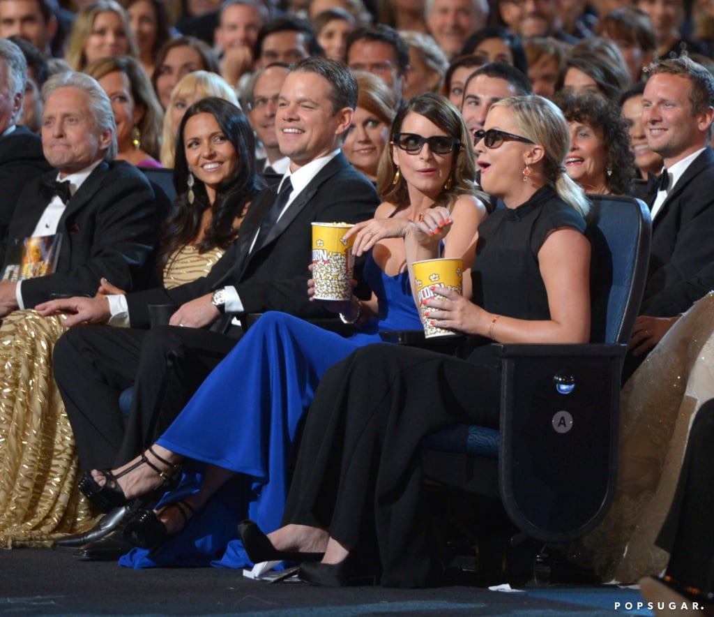 tina fey and amy poehler ate popcorn during a skit best