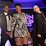 Jennifer Hudson brought a lot of energy to the Turn It Up For Change Ball, which benefits the Human Rights Campaign, in LA on Thursday.