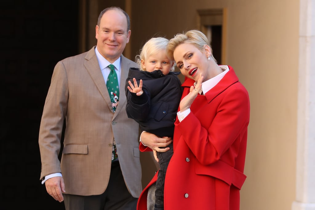 A few days after ringing in Prince Jacques and Princess Gabriella's second birthday with a safari-themed bash, the royal family of Monaco got in the holiday spirit during an event at Monaco Palace. Princess Charlene and Prince Albert II carried their adorable son around the annual Christmas gifts distribution on Wednesday, where he waved to photographers and got to hang out with a snowman. Princess Gabriella only made a brief appearance, but she looked beyond cute while holding her father's hand as they walked around outside. Just like the holidays, we'll never get sick of Charlene's sweet bond with her children.