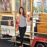 Lily Aldridge posed on a cable car while doing press for Victoria's Secret's annual What Is Sexy? list in San Francisco on Tuesday.