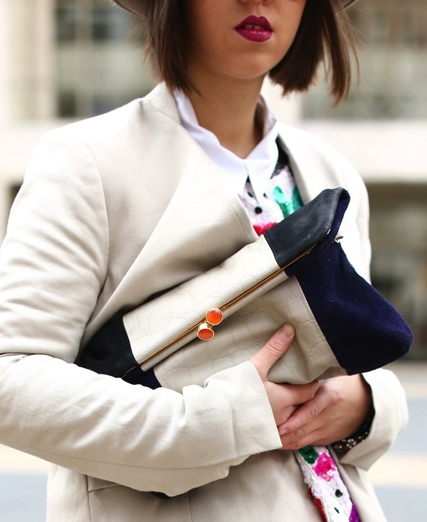 Bold colorblock lent interest to this fresh fold-over clutch.