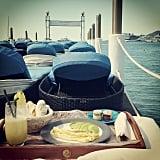 Freida Pinto shared her brunch view. Source: Instagram user freidapinto