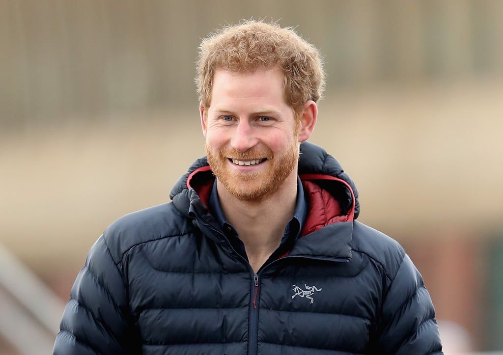 Harry was all smiles at the Heads Together marathon training session in Newcastle, UK.