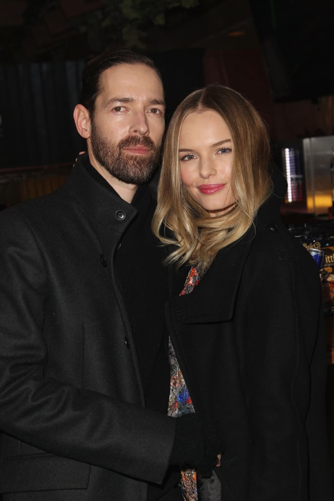 Kate Bosworth and Michael Polish hugged during a party at the Sundance Film Festival on Wednesday.