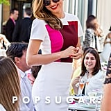 Miranda Kerr was all smiles at a special tea in Sydney on Friday.