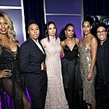 Pictured: Laverne Cox, Lena Waithe, Jurnee Smollett-Bell, Kerry Washington, Tracee Ellis Ross, and Angela Robinson