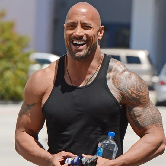 Dwayne Johnson in Tight Shirts Photos