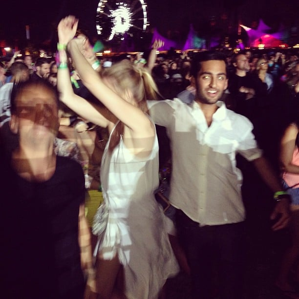 Whitney Port danced the night away on the Coachella grounds during weekend one. Source: Instgram user whitneyeveport