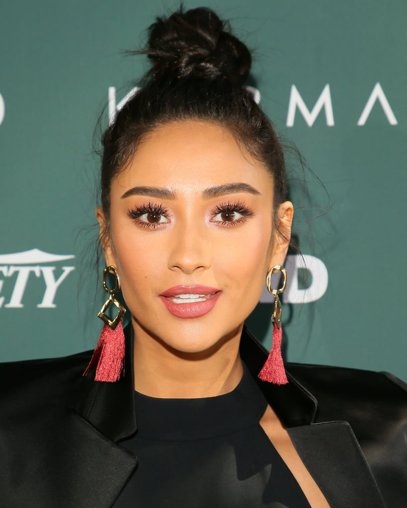 Shay Mitchell At The Cfda Luncheon Messy Bun Hair Trend