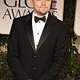 Leonardo DiCaprio on the red carpet at the 2012 Golden Globe Awards.