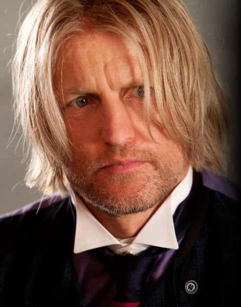 Woody Harrelson as Haymitch Abernathy in The Hunger Games.