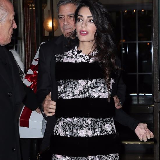Amal Clooney Giambattista Valli Dress in Paris Feb. 2017