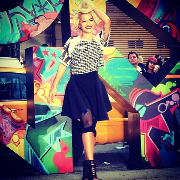 Rita Ora took over the runway at DKNY. Source: Instagram user mbfashionweek