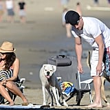 Channing Tatum and Jenna Dewan got set up on the sand.