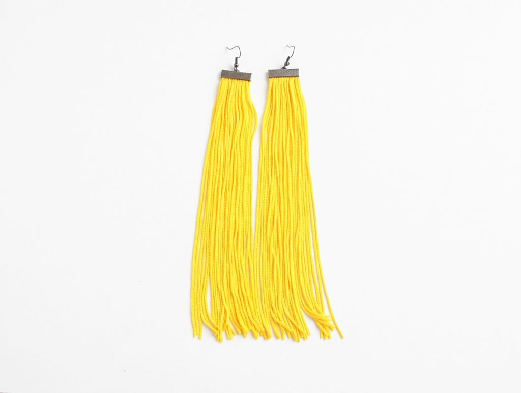 Yellow Fringe Earrings