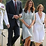 Kate Middleton and Prince William walked through the Kranji War Memorial in Singapore.