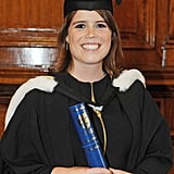 She flashed a big grin during her graduation ceremony at Newcastle University in July 2012.