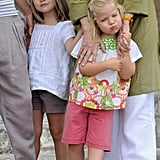 Princess Leonor and Infanta Sofía in 2010