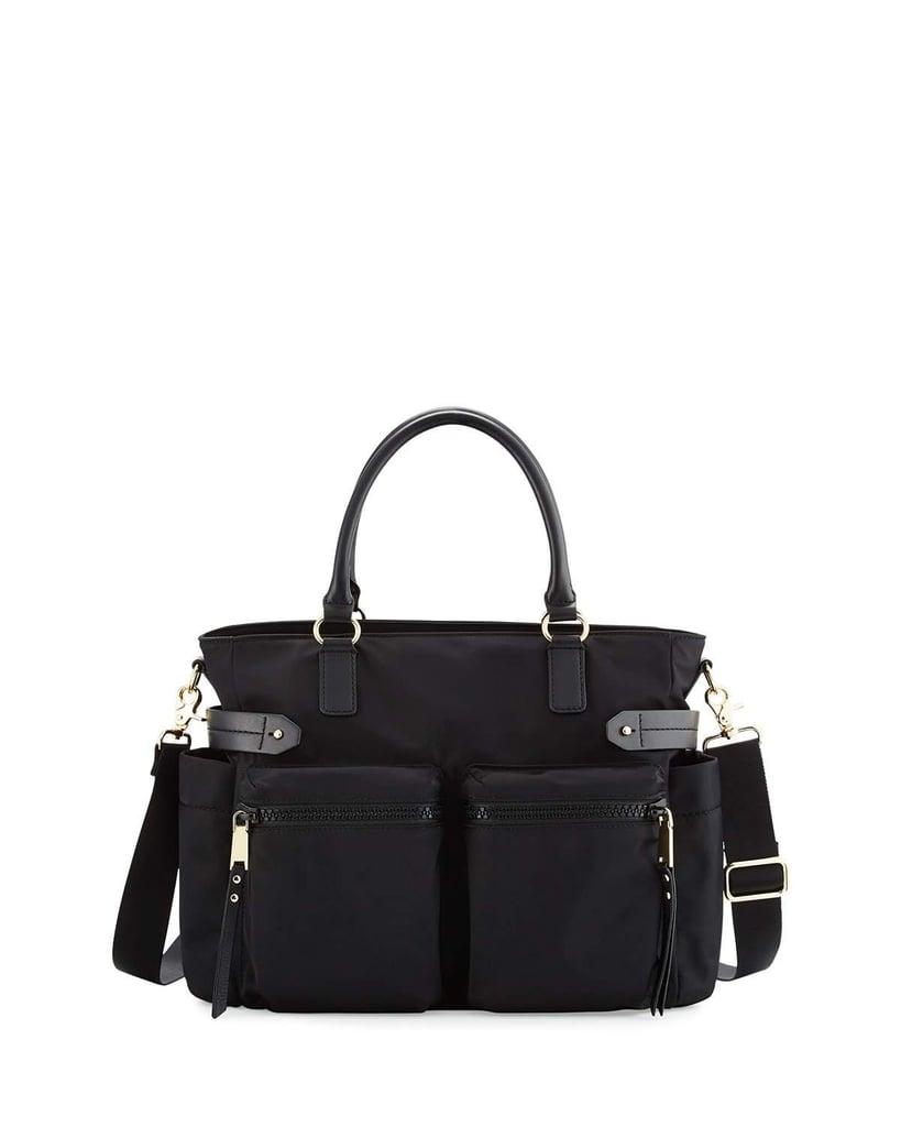 Rebecca Minkoff Zoe Nylon Diaper Bag, Black