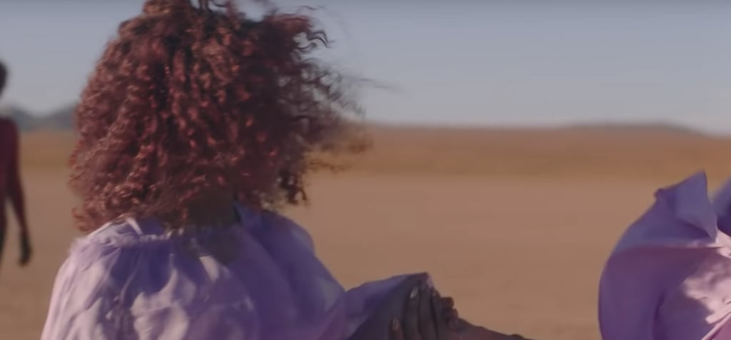 """Blue Ivy's Burgundy Natural Hair and Beyoncé's Nails in """"Spirit"""" Music Video"""
