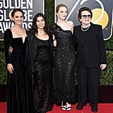 Pictured: Natalie Portman, America Ferrera, Emma Stone, and Billie Jean King