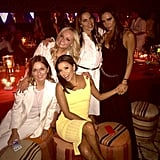 Eva Longoria shared a smiley moment with the Spice Girls.