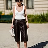 Opt For a Mesh Style and Style Them With Leather Board Shorts