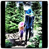 Nicole Richie and her daughter, Harlow, picked out a Christmas tree together. Source: Twitter user nicolerichie