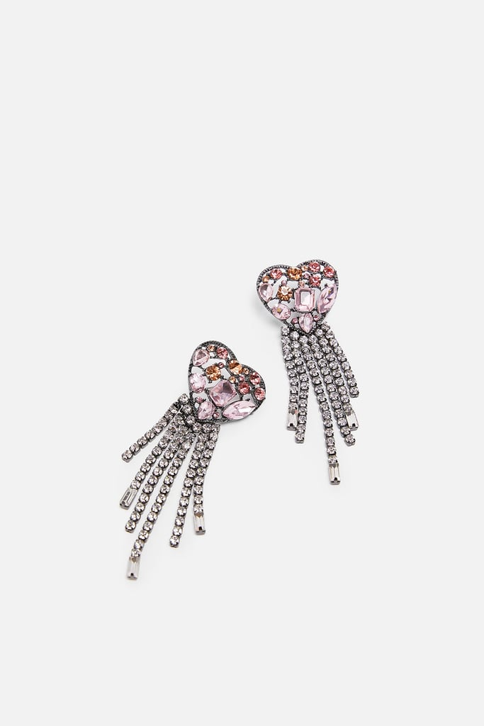 Zara Limited Edition Jewel Heart Earrings
