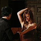 Ian Somerhalder as Damon and Cassidy Freeman as Sage in The Vampire Diaries. Photo courtesy of The CW