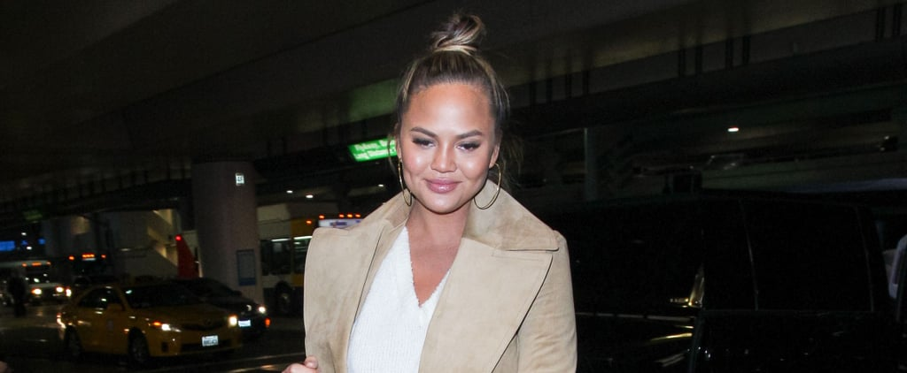 Forget the Teddy Bear Coat — We Want Chrissy Teigen's Teddy Tote