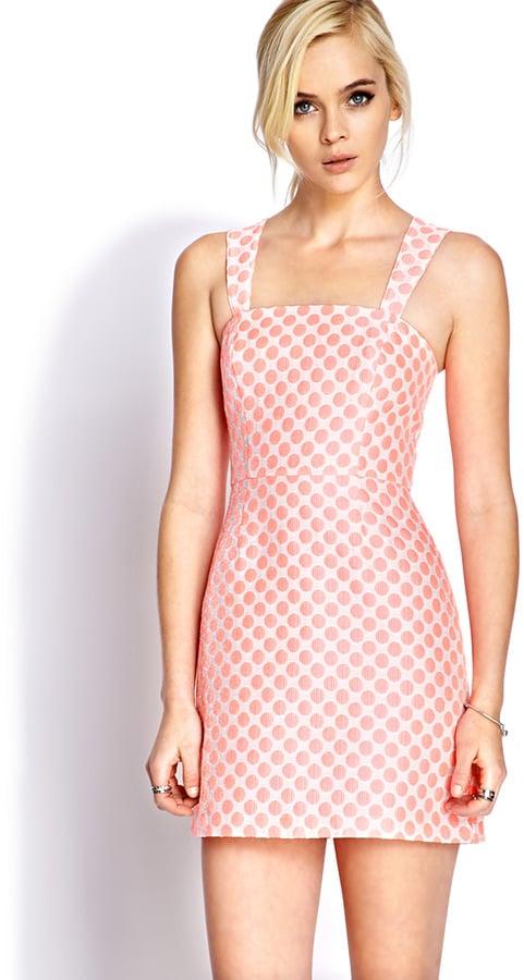 Forever 21 Pink Polka-Dot Dress