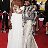 Viola Davis and Cicely Tyson keep close.