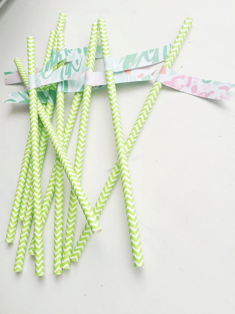 Lilly Pulitzer Paper Flag Straws