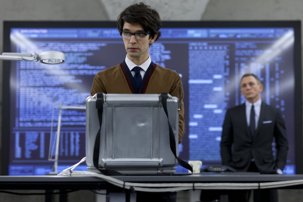 This time around, young Ben Whishaw plays Q, Bond's technology guru. He's the fourth actor to portray the character popularised by Desmond Llewelyn, who appeared in 17 Bond films over his career.