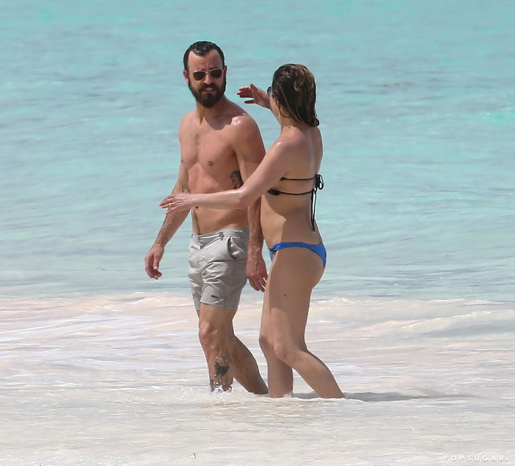 Jennifer Aniston and Justin Theroux in the Bahamas June 2016