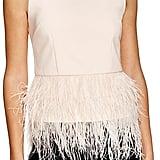 Lucy Paris Feather Trim Top ($88)