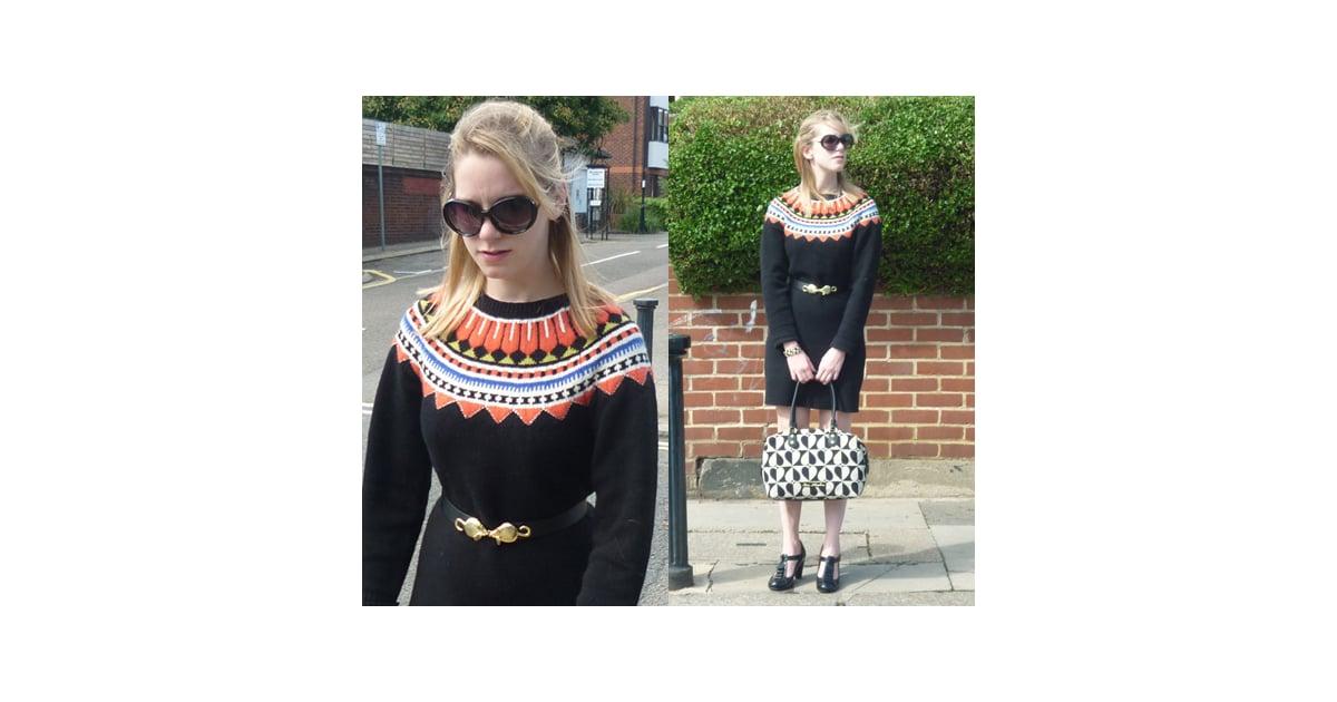 Paul Smith Fairisle Knit Jumper Dress | POPSUGAR Fashion UK