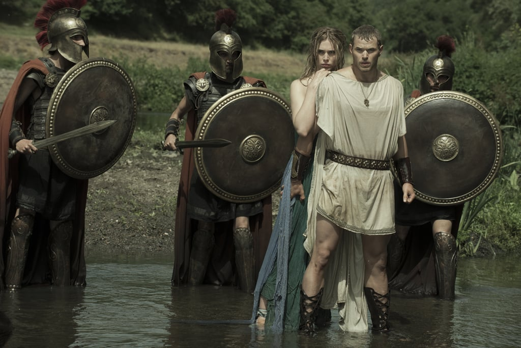 Hercules and his lady (Gaia Weiss) wade into some water  | The