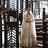 Kresha Bajaj Embroidered Her Love Story on to Her Wedding Dress