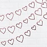 Glitter Hearts Mini Garland