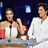 She took home a trophy for best reality series for Keeping Up With the Kardashians at the 2018 MTV Movie and TV Awards.