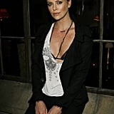Charlize Theron wore a barely there tank top to a Dior pre-Oscars dinner in February 2007.