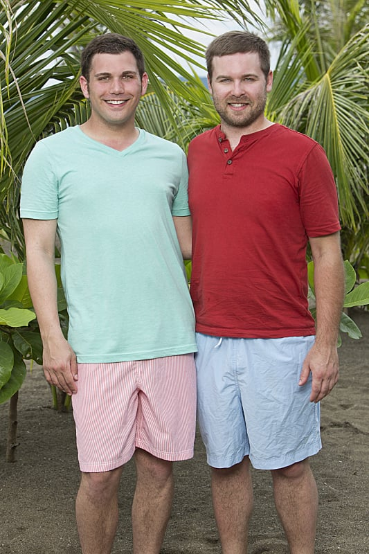 Colton Cumbie and Caleb Bankston  Ages: 22 and 26 Relationship: Engaged Hometown: Collinsville, AL Occupations: Student teacher and post office manager/farmer Alumni cred: Colton had to be medically evacuated from Survivor: One World