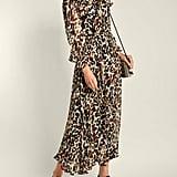 Sonia Rykiel Leopard-Print Silk Maxi Dress