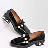 SheIn Pearl-Studded Patent Leather Loafers