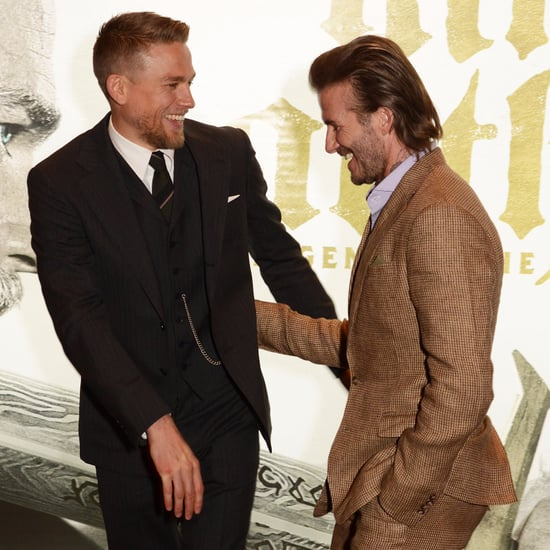 David Beckham and Charlie Hunnam at King Arthur Premiere