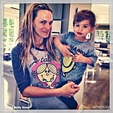 Molly Sims and Brooks Stuber wore the happiest shirts they could find to chase their end-of-vacation blues away. Source: Instagram user mollybsims
