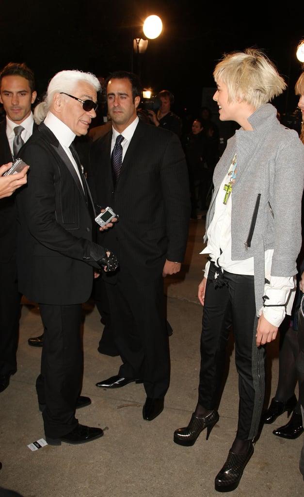Karl Lagerfeld, Agyness Deyn.